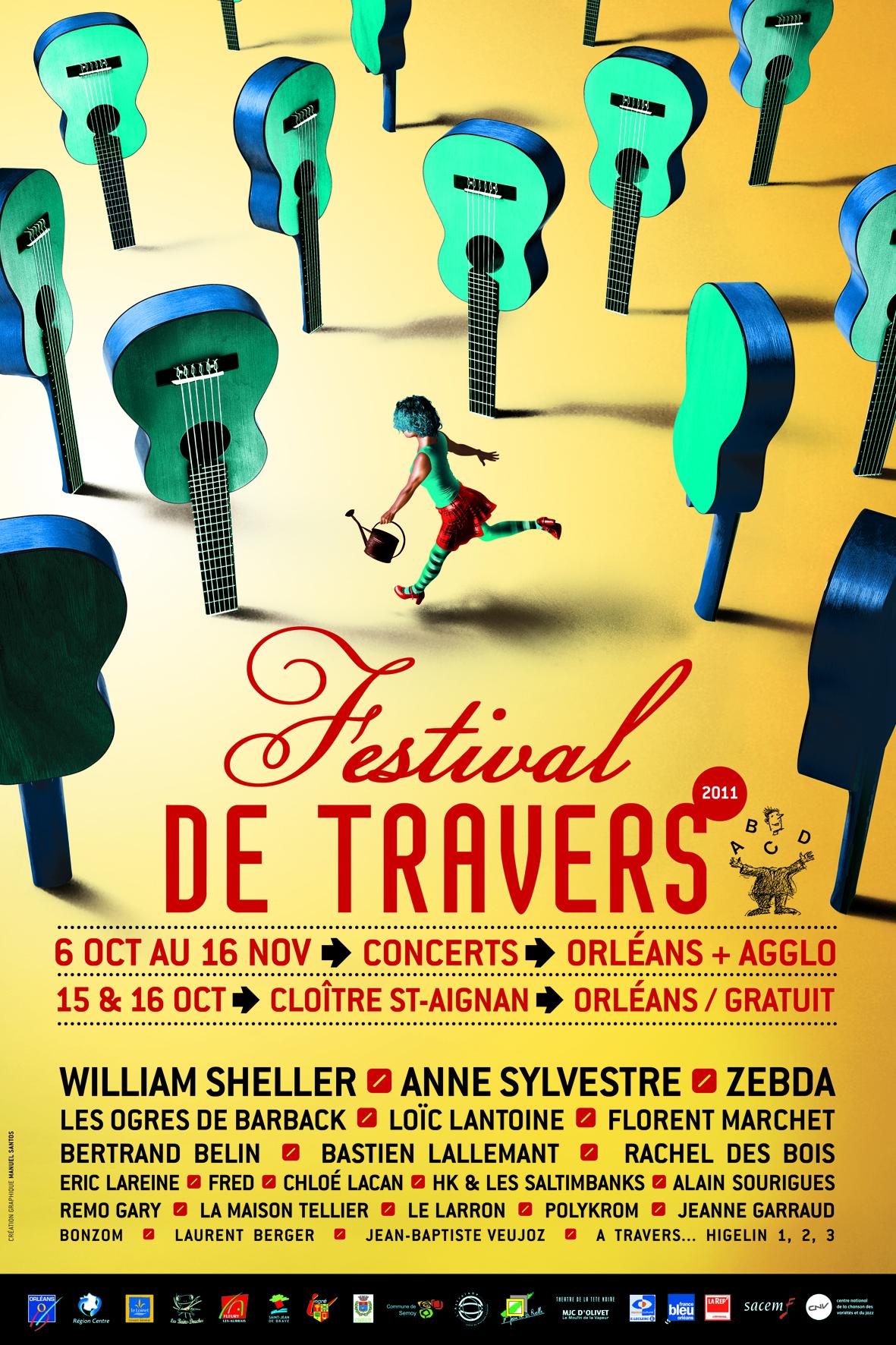 Affiche Festival de Travers 2011