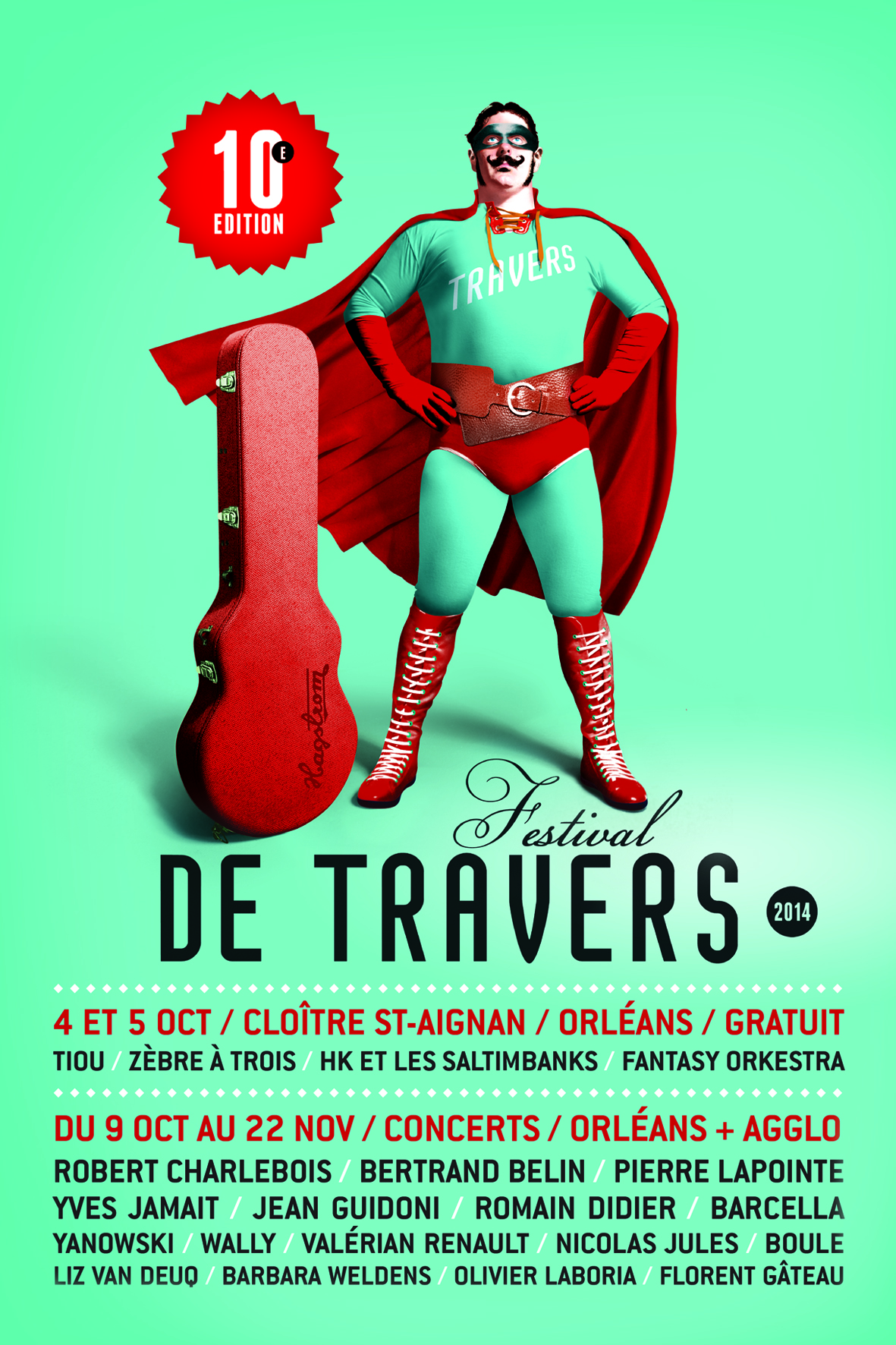 Affiche Festival de Travers 2014