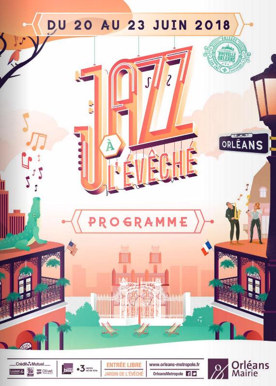Festival Jazz à l'Évêché Affiche 2018